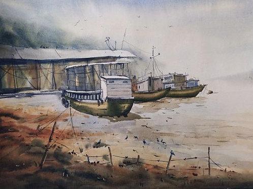 Watercolor Painting by Ashoke Banerjee