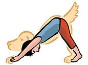 Dessin enfant posture du chien
