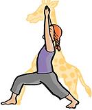 Dessin enfant posture de la girafe