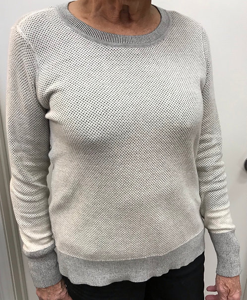 Reversible (Cream/Olive) Long Sleeve Sweater