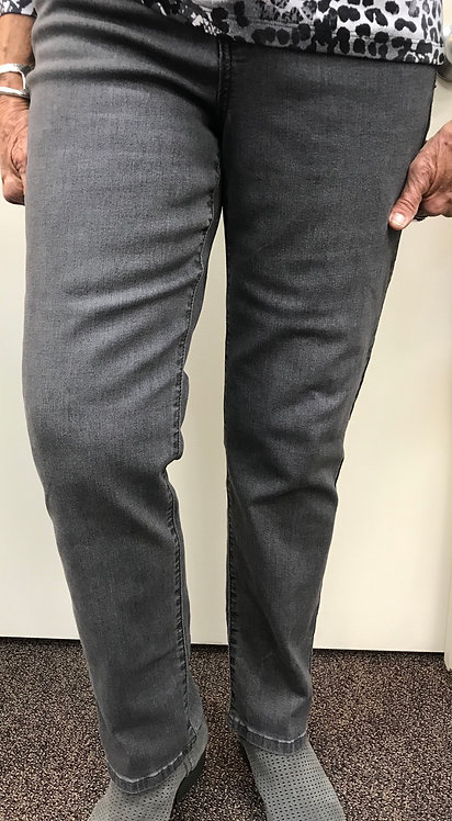 Grey Denim Straight Leg