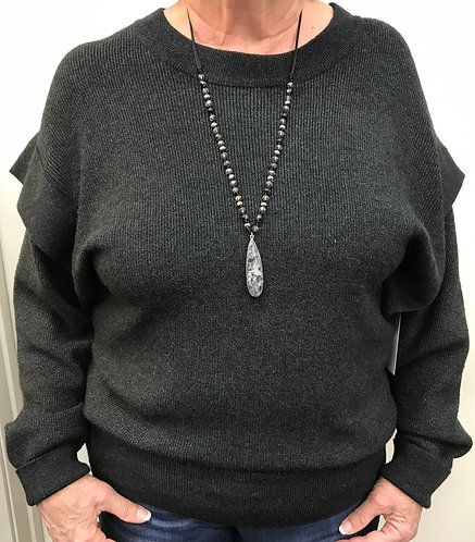 Charcoal Layered Arm Sweater