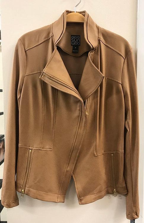 Camel Liquid Leather Jacket