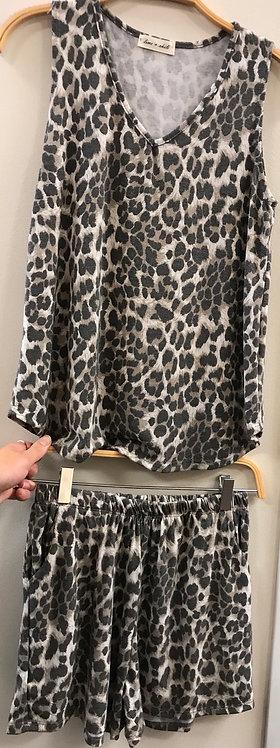 Cheetah Lounge-wear Set