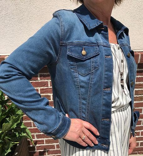 Stretch Denim Jacket - Medium Wash