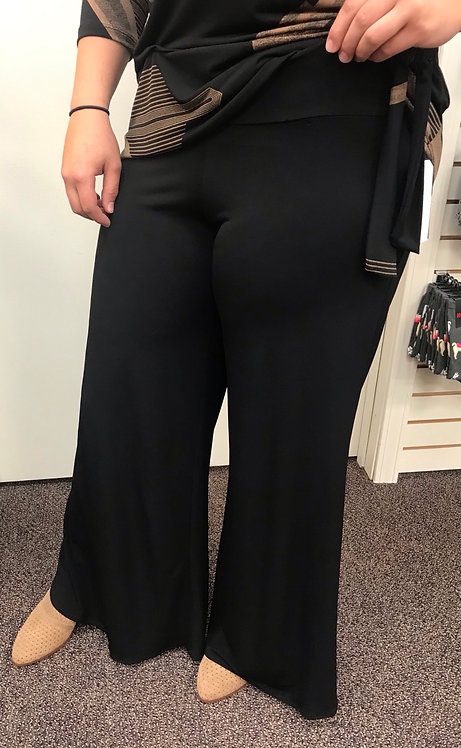 Black Pull-On Palazzo Pant