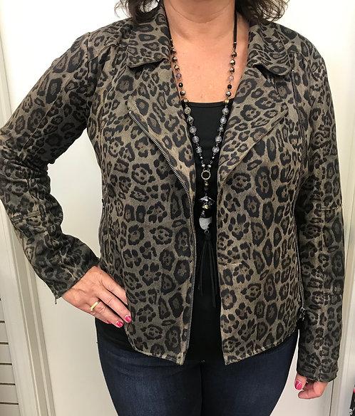 Brown/Black Cheetah Print Jacket