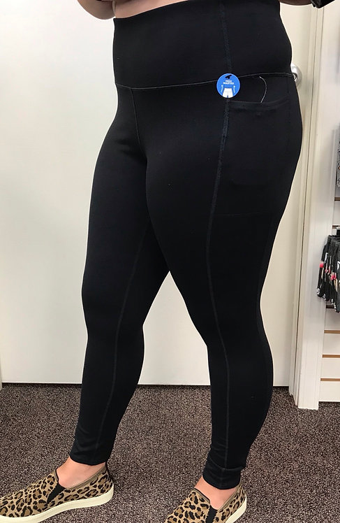 Sketchers Brand High Waisted Black Legging