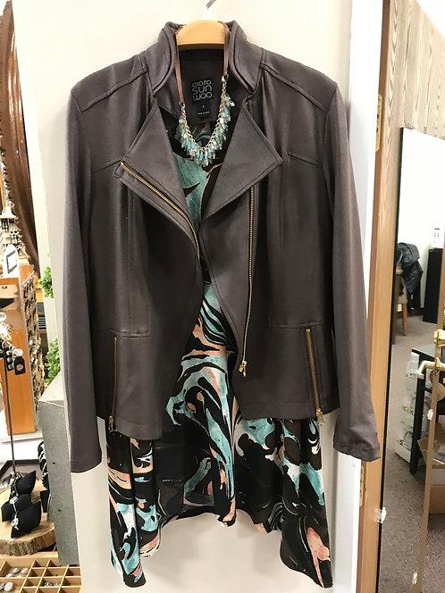 Brown Liquid Leather Jacket