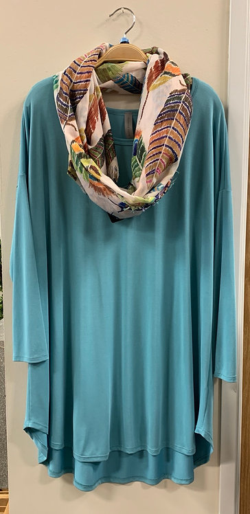Solid Teal Top - Reg. & PLUS Size