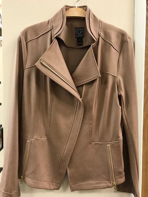Taupe Liquid Leather Jacket