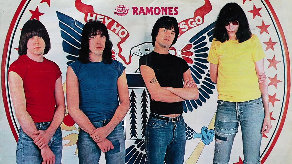 Ramones circa 1980 without signature leather jackets