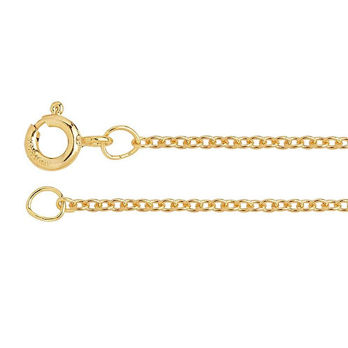 """18"""" Yellow Gold-Filled Round Cable"""