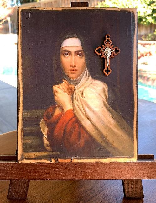 """St. Teresa of Avila 7""""h x 5.5""""w"""