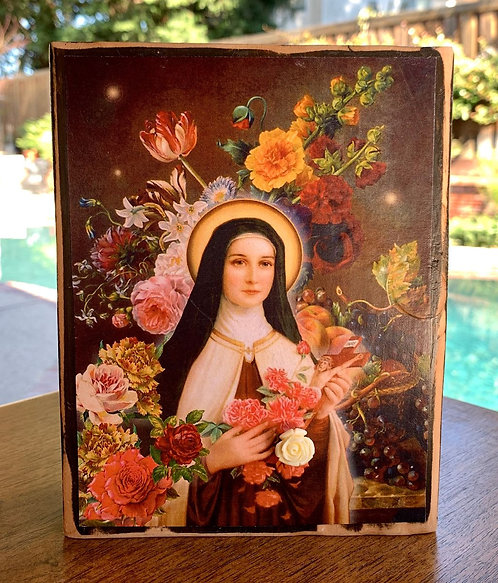"St. Therese Little Flower #2  7""h x 5.5""w"