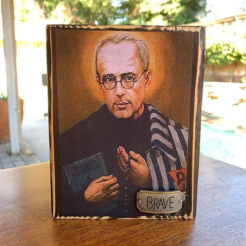 """St. Maximilian Kolbe  7""""h x 5.5""""w"""