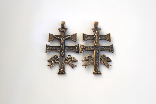 Caravaca Crucifix, large (Part #158) Front and back shown in this picture