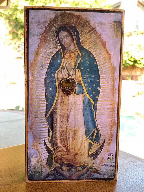 """Our Lady of Guadalupe Large  10""""h x 5.5""""w"""