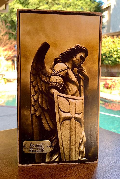 "St. Michael the Archangel  10""h x 5.5""w"