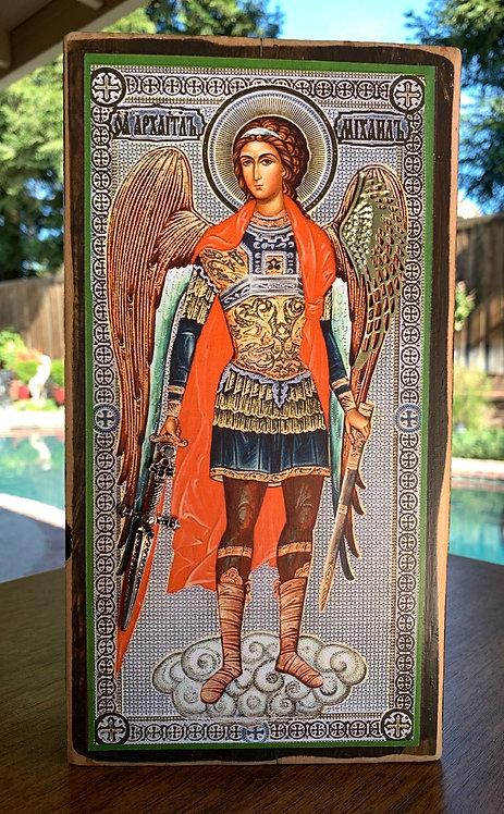 "St. Michael Icon Large 10""h x 5.5""w"
