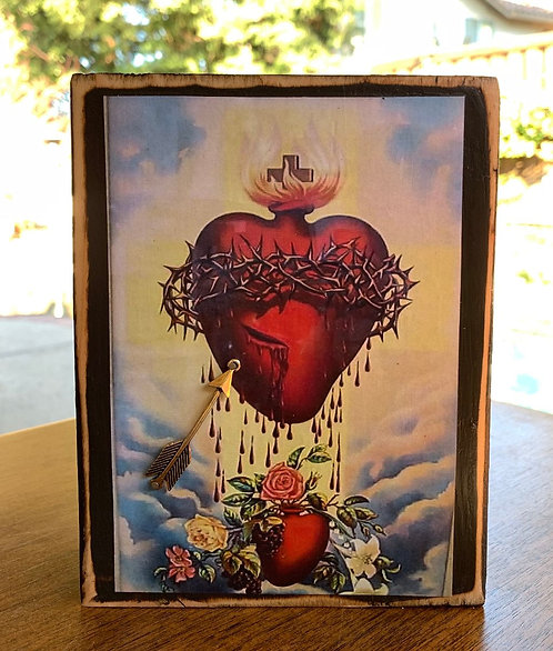 "Sacred Heart of Jesus  7""h x 5.5""w"