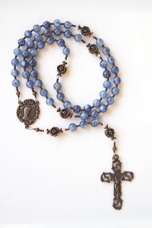 Blue Kyanite and Bronze Rosary