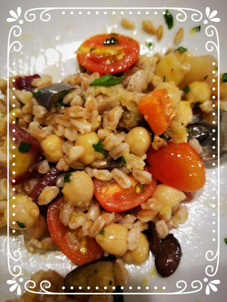 Italian Farro with Roasted Vegetables