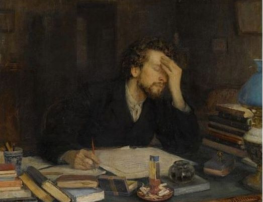 The Passion of Creation, by Leonid Pasternak, 1892.