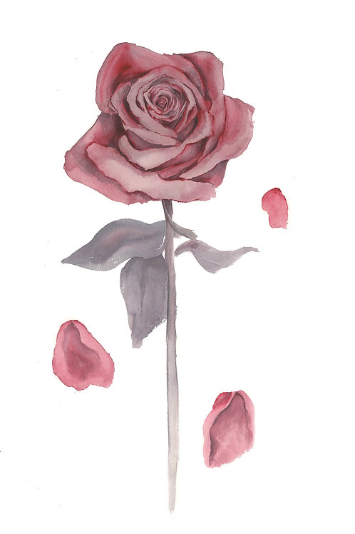 One Lonely Rose Print