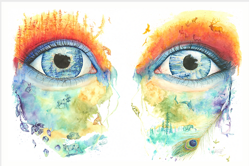 Eye of World Looking Back Series - Print