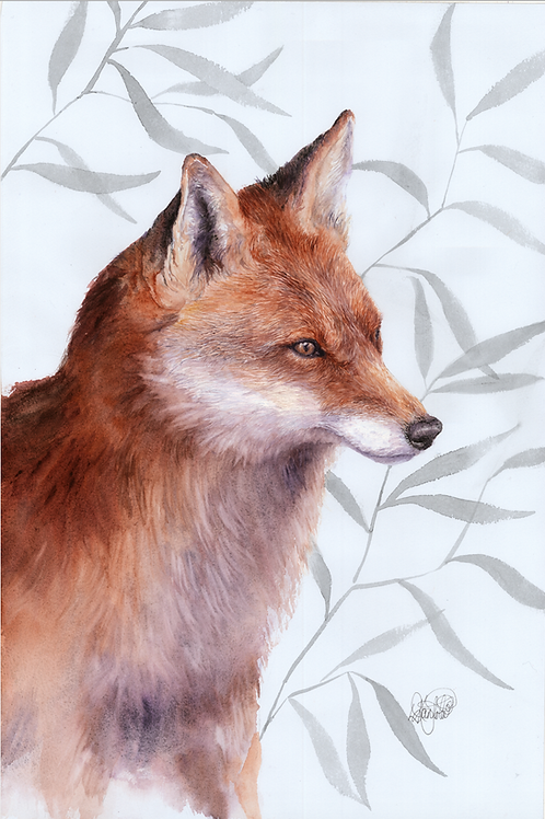 Young Fox Print