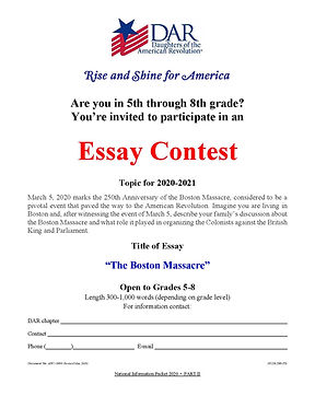 American History Essay Contest Details 2