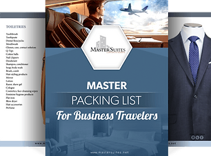 Master Packing List for Busines Travelers by Master Suites Corporate Housing