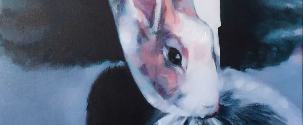 gantée, 60 x 60 cm, oil on canvas