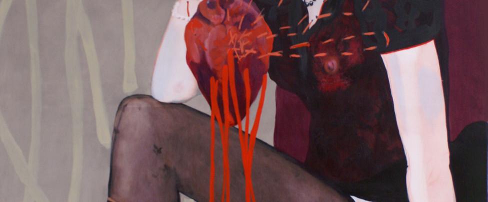 Eat my hart , 180 x 120 cm, 2016