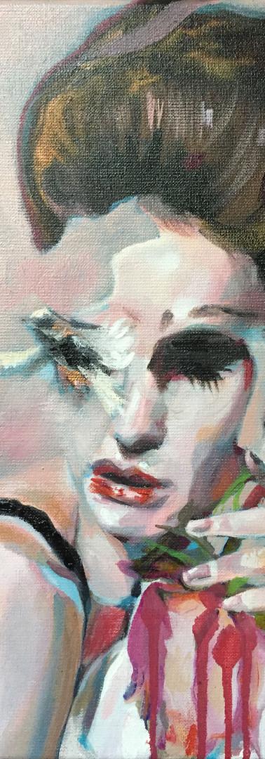 l oiseau, oils on canvas, 40 x 30 X 5 cm,2020