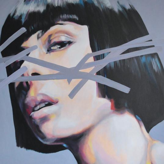 « Portrait », 2018, oils on canvas