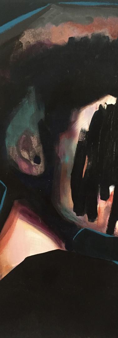 black beauty 50 x 40 cm,oils on canvas