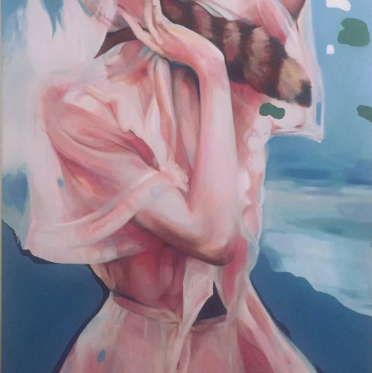 Basculo, 210 x 120 cm , oil on canvas, 2019