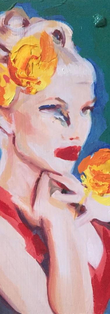 Mademoiselle, 27 X 17 cm, oils on wood