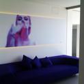 le baiser  print on mettalic board, LED