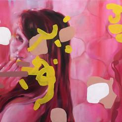 Baiser, Oil on canvas,66x89 cm, 2019
