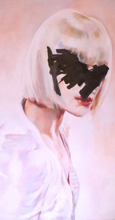 """La perf"" , oils on Canvas , 165 x 110 cm"