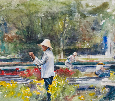 Afternoon in the Gardens-SOLD