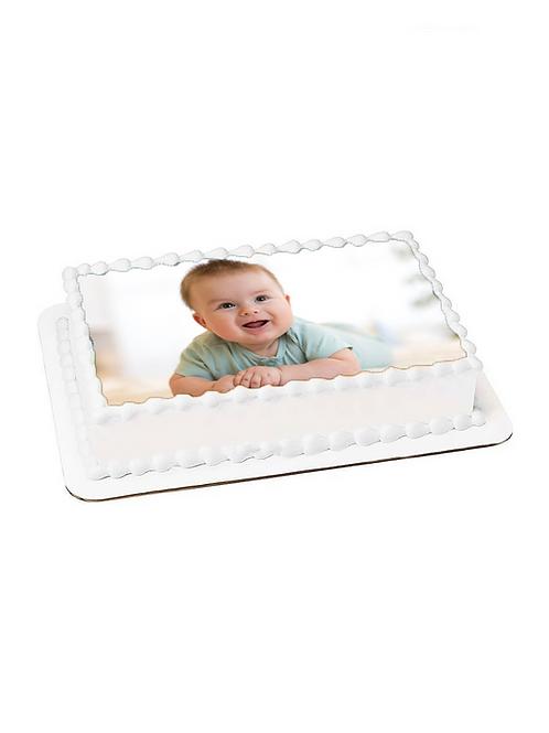 Bebek Resimli Pasta