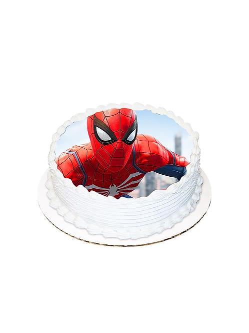 Spiderman Yuvarlak Pasta