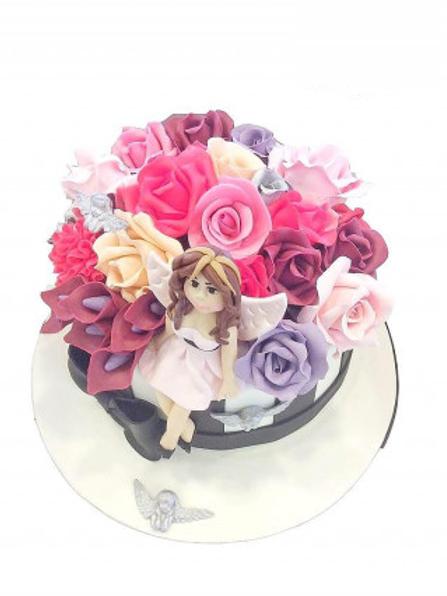Renkli Çiçek Pasta