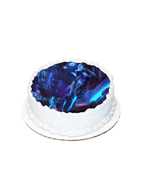 Oyun Yuvarlak Resimli Pasta