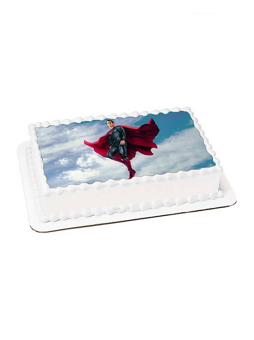 Süperman Resimli Pasta