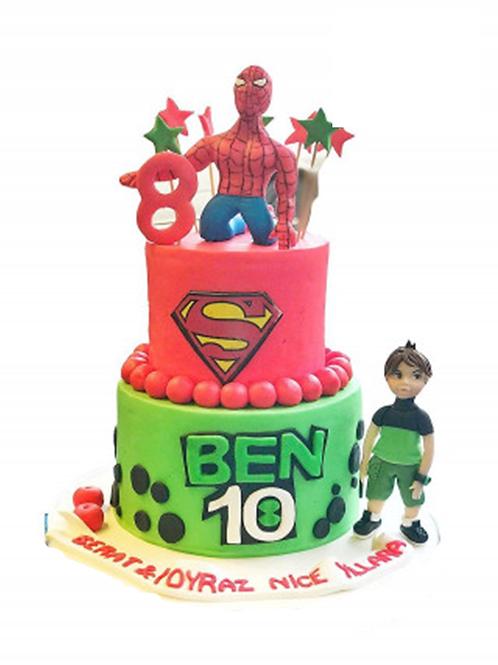 Süper Kahramanlar Pasta